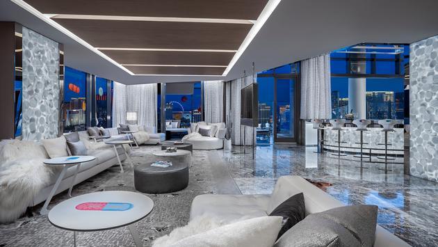 Hirst Suite living room at Palms Casino Resort Las Vegas
