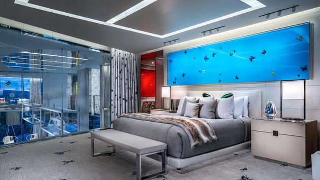 Hirst Suite Bedroom at Palms Casino Resort Las Vegas