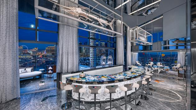 Hirst Suite bar at Palms Casino Resort Las Vegas