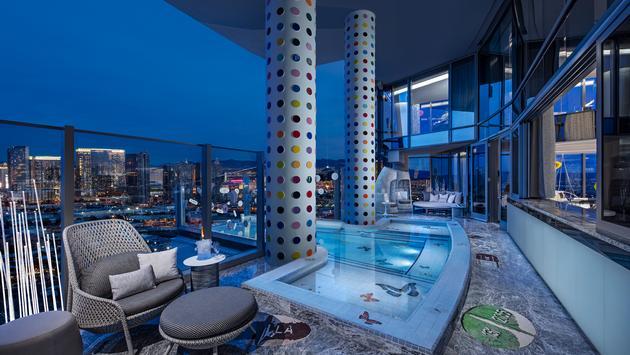 Hirst Suite balcony at Palms Casino Resort Las Vegas