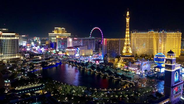 Beautiful Colours Of Vegas At Night