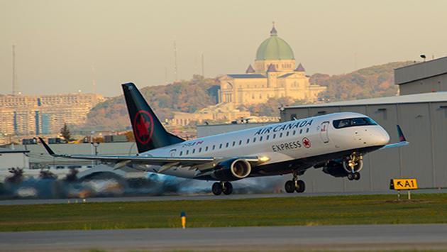Aeronave de Air Canada durante el despegue. (Foto de Air Canada)