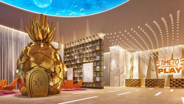 Nickelodeon Hotels & Resorts Riviera Maya lobby rendering