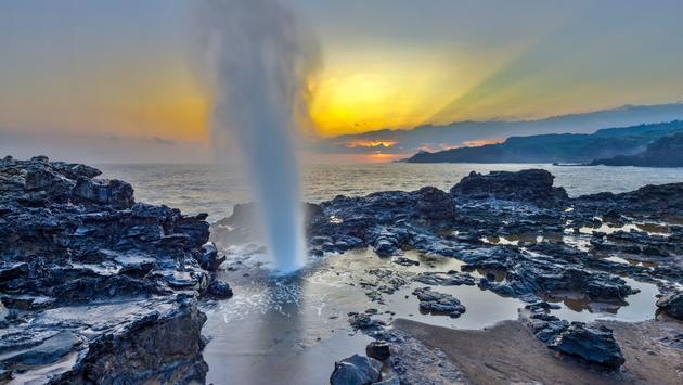 Nakalele Blowhole, Kapalua Beach on Maui, Hawaii
