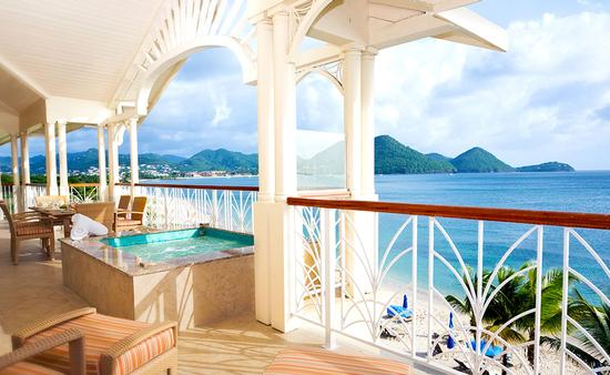 PHOTO: Resort Balcony St. Lucia (photo via Elegant Hotels)