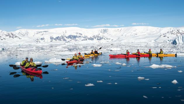 Sea kayaking in Portal Point with Aurora Expeditions