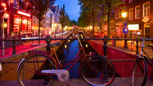 Red Light District in Amsterdam, Netherlands.