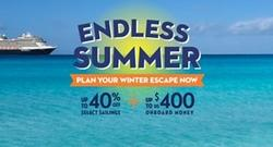 Endless Summer savings and up to US$400 onboard spending