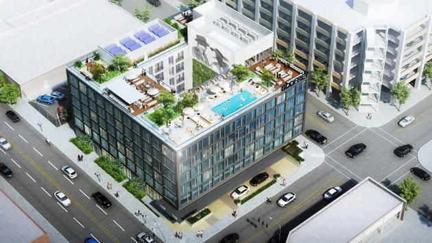 The Godfrey Hotel Hollywood - Exterior Rendering