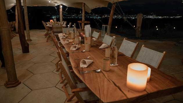 Kinkara's dining tent