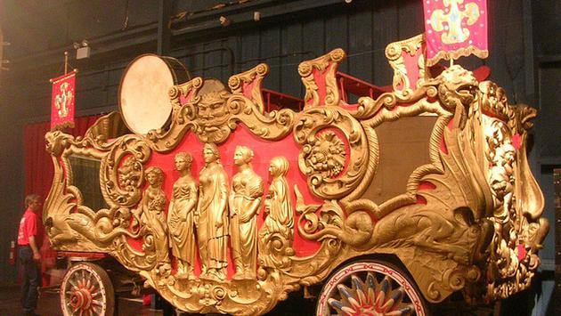 Circus bandwagon at the Ringling Museum in Sarasota, Florida
