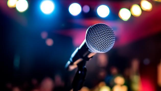 microphone, concert, stage