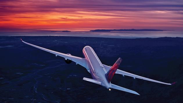 Delta plane at sunset.