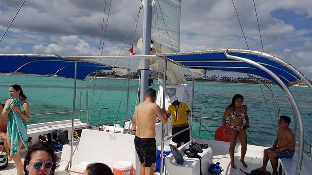 Catamaran excursion off Bavaro beach in Punat Cana Dominican Republic