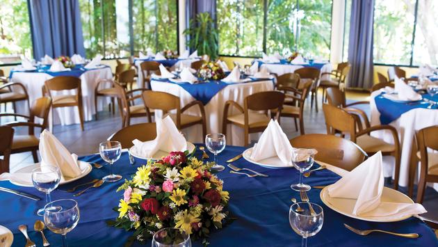 BlueBay Resort table set for a wedding