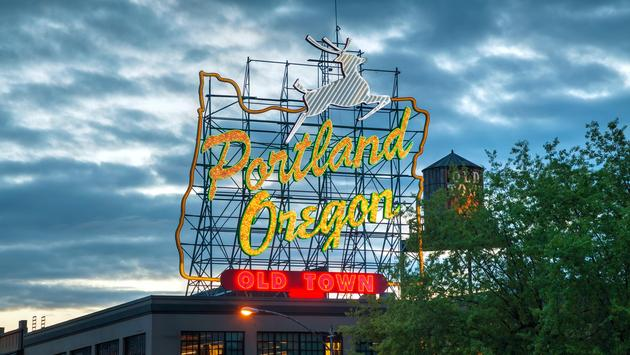 Neon sign in Old-Town Portland