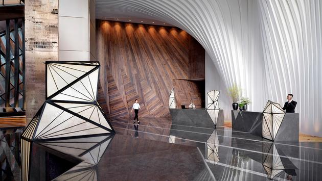 The lobby of the new Grand Hyatt Xi'an