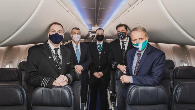 Remise en service Boeing 737 MAX de WestJet