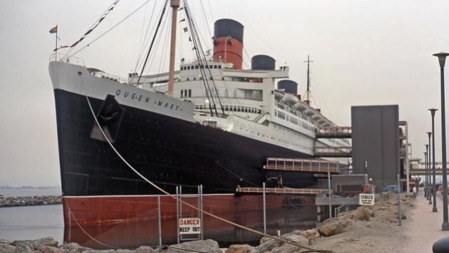 The 'Queen Mary' at Long Beach