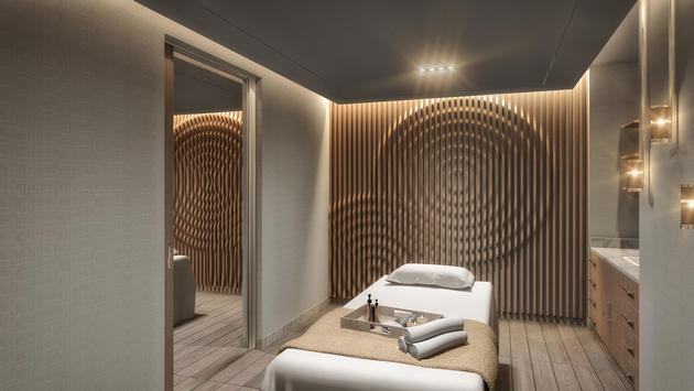 Rendering of a treatment room at The Spa at Palms