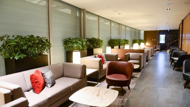 The lounge area at Air Canada