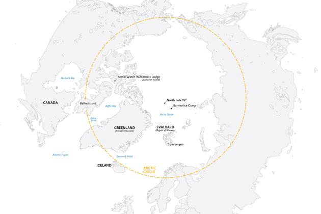 Quark Expeditions Arctic Map