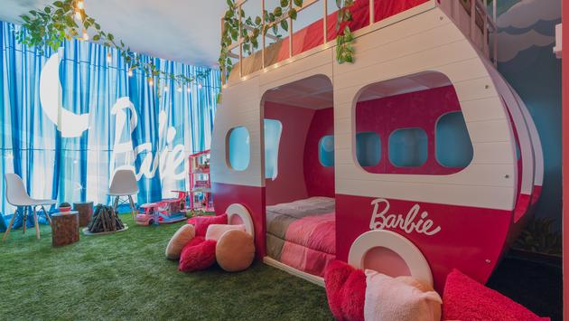 Barbie®-themed Glamping Sleepover Room at Hilton Mexico City Santa Fe