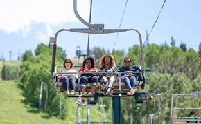 Scenic chairlift in Park City, Utah.