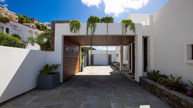 Bella Vista Villa Entrance on St. Maarten