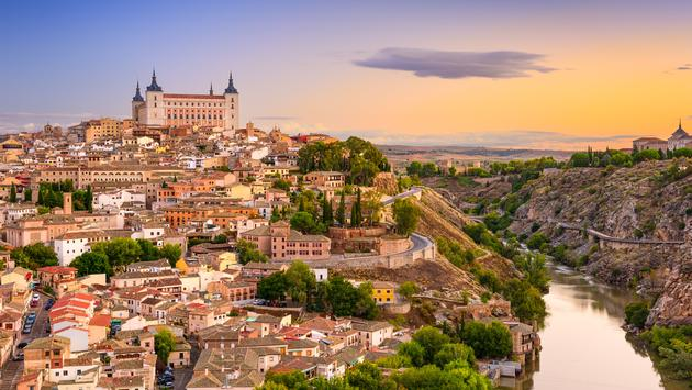 Toledo, Spain over the Tagus River.