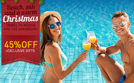 Beach, Sun and a Warm Christmas: Up to 45% OFF