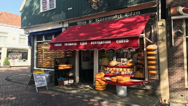 A cheese shop near the Cheese Market in Edam