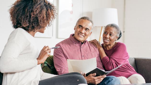 Senior couple getting professional consultation