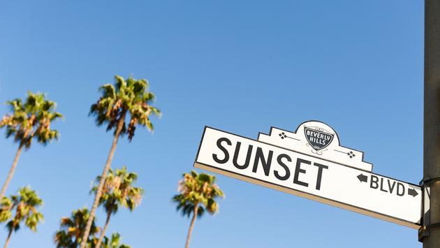 Sunset Boulevard street sign