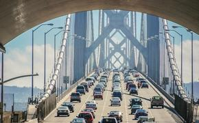 Traffic over the Bay Bridge in San Francisco