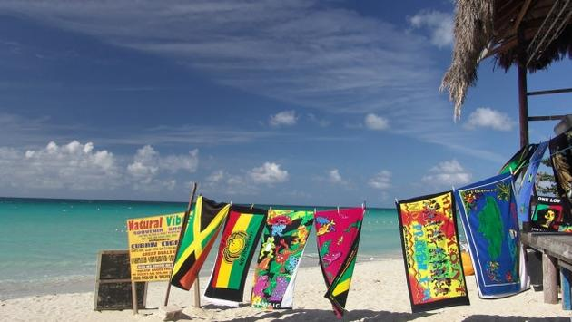 Jamaica beach and towels