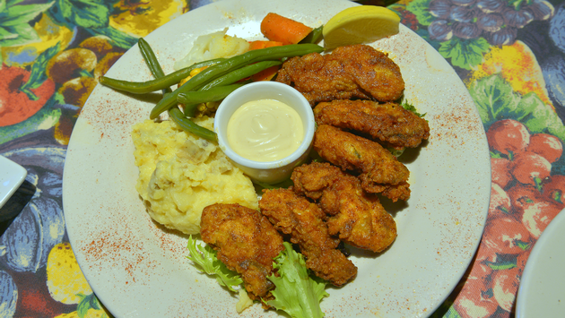 Fried oysters at The DEPOT Restaurant in Washington