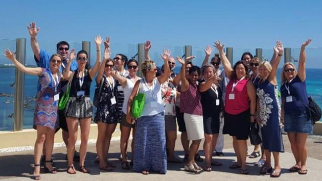 Quinze agents de Voyage en Direct à Cancún.