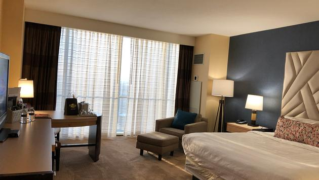 Guest room at Hard Rock Hotel & Casino in Atlantic City