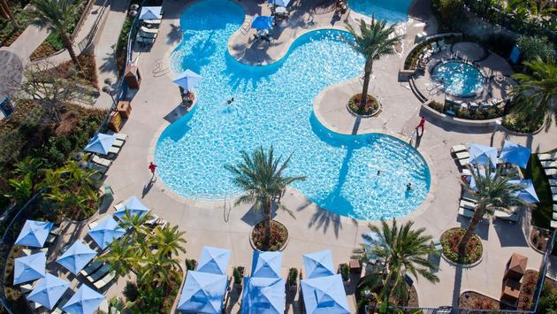 Disneyland Hotel Pool Aerial