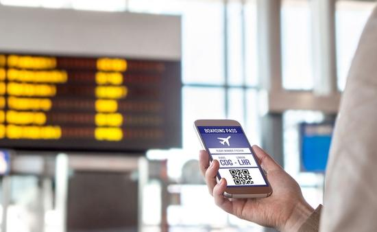 Boarding pass on smartphone