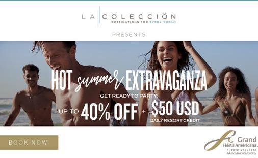 Hot Summer Extravaganza: Up to 40% Off + $50 USD Daily Resort Credit