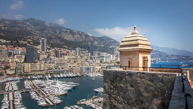 An expansive view of Monaco