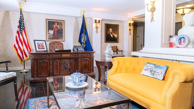 Veep, suite, Hamilton Hotel, Washington DC, HBO