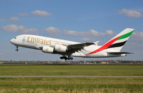emirates, plane, flight
