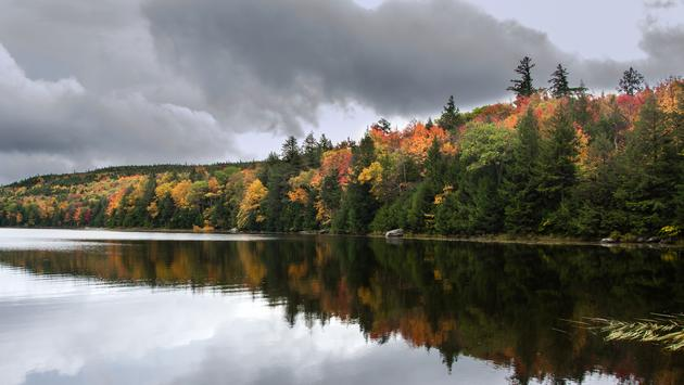 View of lake at Green Mountain