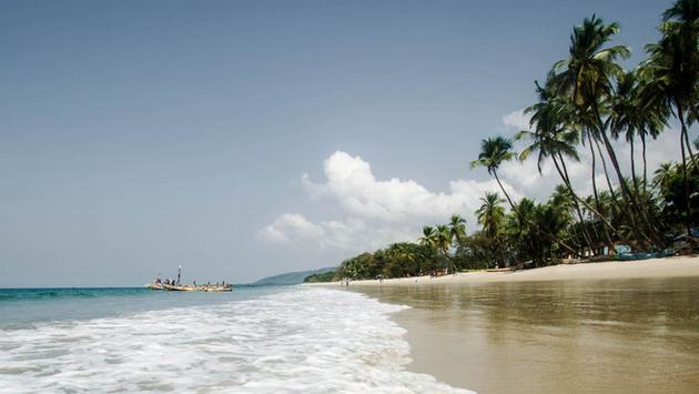 Beautiful beaches in Sierra Leone.