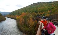 Couple Biking in Poconos, Pennsylvania