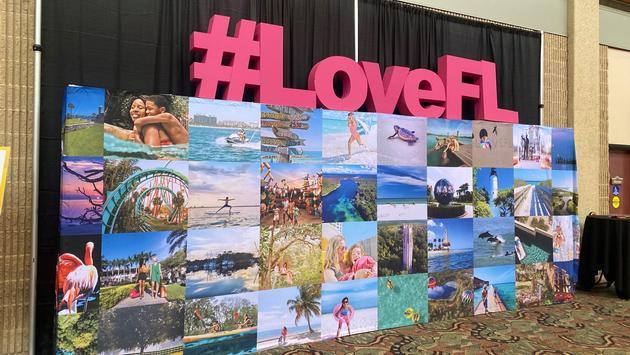 Visit Florida sign at Florida Huddle 2020