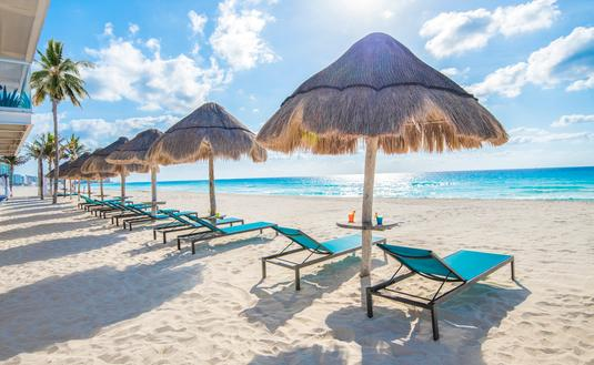 Beach chairs at Panama Jack Resorts Cancun